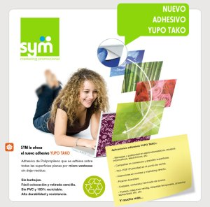 Nuevo adhesivo YUPO TAKO - SYM Marketing Promocional