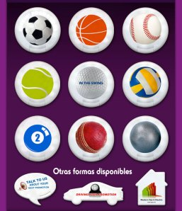 Pastilleros con forma de balón - SYM Marketing Promocional