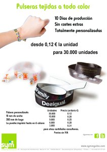 Pulseras tejidas - SYM Marketing Promocional