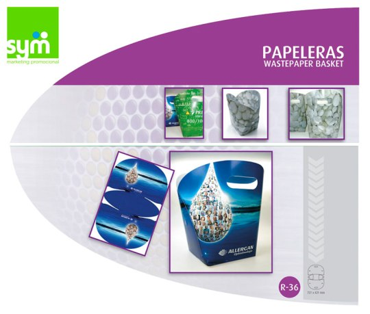 Papeleras Automontables - SYM Marketing Promocional