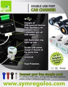 Cargador de móvil de coche - SYM Marketing Promocional
